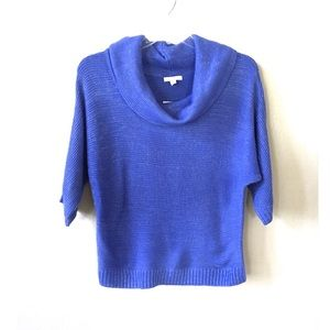 NY&Co Periwinkle Cowl Neck 3/4 Sleeve Sweater